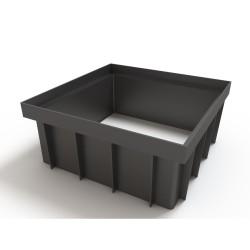 Надстройка к дождеприемнику Ecoteck, цвет черный, 28 х 28 х 12 см