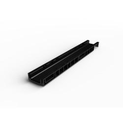 Лоток водоотводный Ecoteck цвет черный, 100 х 15 х 6,9 см