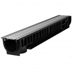 Лоток с решеткой стальной Ecoteck STANDART, 100 х 15 х 9,9 см