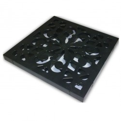 Решетка к дождеприемнику декоративная Ecoteck, цвет черный, 27 х 27 см