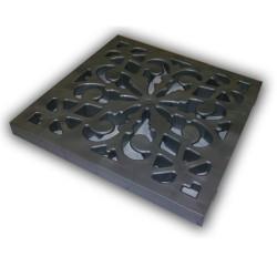 Решетка к дождеприемнику декоративная Ecoteck, цвет металлик, 27 х 27 см