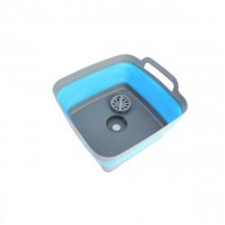 Корзина-раковина складная Bradex пластиковая с ручками синяя TD 0539