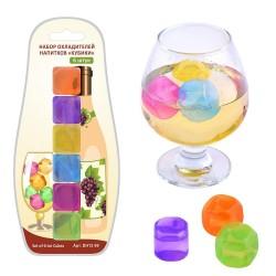 Лед многоразовый для напитков Кубики Мультидом/multidom 6шт DH13-99