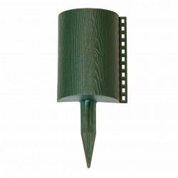 Забор декоративный Бревнышко набор 10 секций зеленый