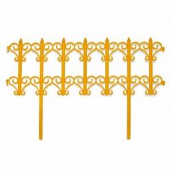 Забор декоративный Классика набор 5 секций желтый
