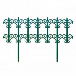 Забор декоративный Классика набор 5 секций зеленый