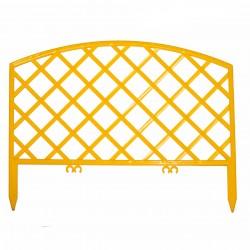 Забор декоративный Решетка набор 5 секций желтый