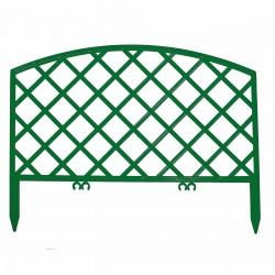 Забор декоративный Решетка набор 5 секций зеленый