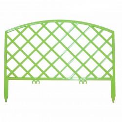 Забор декоративный Решетка набор 5 секций салатовый