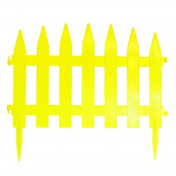 Забор декоративный Солнечный сад набор 7 секций желтый