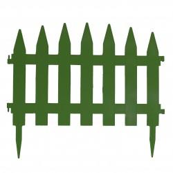 Забор декоративный Солнечный сад набор 7 секций зеленый