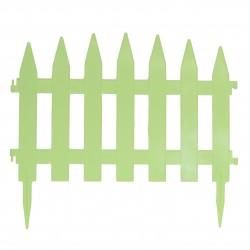 Забор декоративный Солнечный сад набор 7 секций салатовый