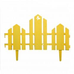 Забор декоративный Чудный сад набор 5 секций желтый