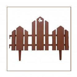 Забор декоративный Чудный сад набор 5 секций терракотовый