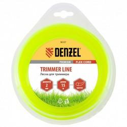 Леска для триммера 2,0 (15м) круглая FLEX CORD, Denzel 96107