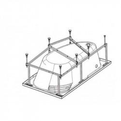 """Монтажный комплект к асимметричной ванне """"Ибица XL"""" 160х100см, универсальный"""