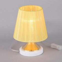 Лампа настольная РОССвет РС20544 WT+FG/1T Белый+Золото Е14 1х60Вт IP20