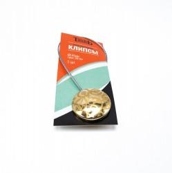 Магнитные клипсы d45 с тросом 30 см золото