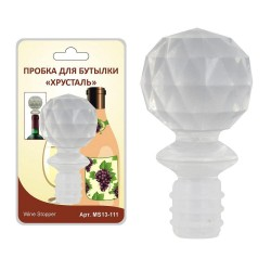 Пробка для бутылки Хрусталь Мультидом/multidom MS13-111