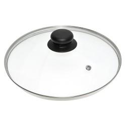 Крышка стеклянная 28см Мультидом/multidom металлический ободок ФЭ9-11