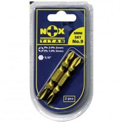 Набор бит Ph2*Ph2, Ph1*Ph3-50мм (2 биты на блистере) Nox Titan 556669