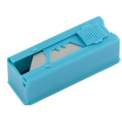 Лезвиядля ножа 19 мм трапециевидные, пластиковый пенал, 12 шт. Gross 79376