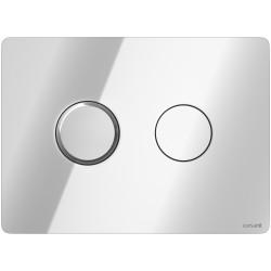 Кнопка для смыва Cersanit Accento Circle, пластиковая, хром глянцевый