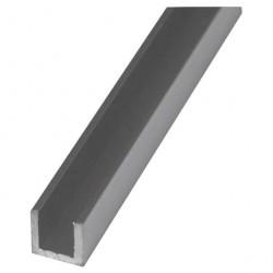 Швеллер алюминиевый, 10 х 10 х 10 х 1,5 мм, длина 2 м, цвет серебро