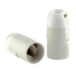 Патрон E14 термост.пластик белый, подвесной гладкий, REV, 24522 3