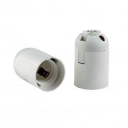 Патрон E27 термост.пластик белый, подвесной гладкий, REV, 24533 9