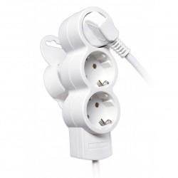 Удлинитель бытовой 3гн, без выключателя, с/з, 5м Duwi