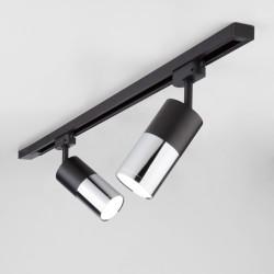 Светильник LTB27 потолочный светодиодный Avantag Черный матовый/хром 6W 4200K