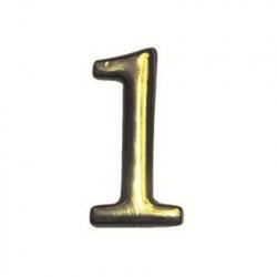 """Цифра """"1"""" самоклеящаяся, цвет золото"""
