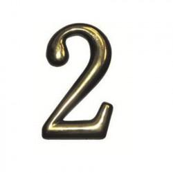 """Цифра """"2"""" самоклеящаяся, цвет золото"""