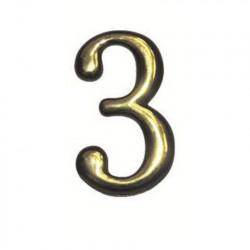 """Цифра """"3"""" самоклеящаяся, цвет золото"""