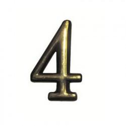 """Цифра """"4"""" самоклеящаяся, цвет золото"""