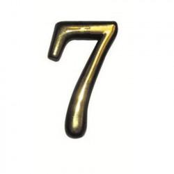 """Цифра """"7"""" самоклеящаяся, цвет золото"""