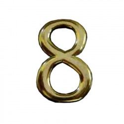 """Цифра """"8"""" самоклеящаяся, цвет золото"""