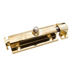 Шпингалет накладной Trodos с кнопкой, цвет золото