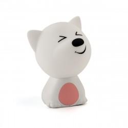 Ночник Lucia Мяшки-светяшки 121 Пёс Барбос розовый/белый аккумуляторный RGB-диод