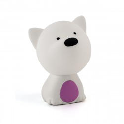 Ночник Lucia Мяшки-светяшки 121 Пёс Барбос фиолет./белый аккумуляторный RGB-диод