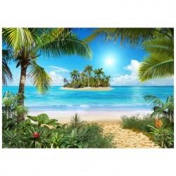 Фотообои Тропический пляж X5 Премиум 291*204см /9 листов/