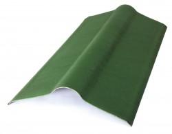 Коньковый элемент, цвет зеленый, 1000 х 420 мм