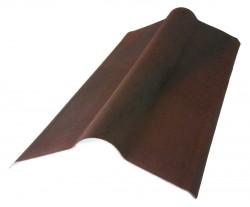 Коньковый элемент, цвет коричневый, 1000 х 420 мм