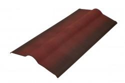 Конек черепицы Ондулин 3D эффект, цвет красный, 1000 х 420 мм