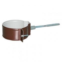 Кронштейн трубы на кирпич, цвет шоколадно-коричневыйRAL 8017,d-100 мм