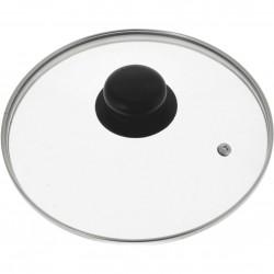 Крышка стеклянная 16см Поливалент с ручкой металл.ободок К4716