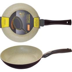 Сковорода d=24см MP-24 Mallony алюминиевая с мраморным антиприг-м покр-ем, индукция, штамповка 00119