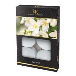 Свеча ароматическая чайная малая 6шт Жасмин Kukina Raffinata 202776