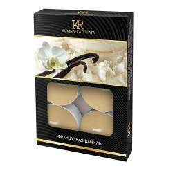 Свеча ароматическая чайная малая 6шт Французская ваниль Kukina Raffinata 202812